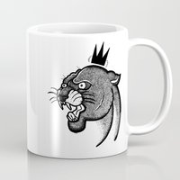 panther Mugs featuring Panther by Shipmate