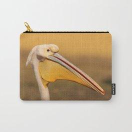 Pelican beak, yellow bird art Carry-All Pouch