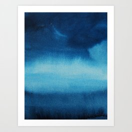 Indigo Ocean Dreams Art Print