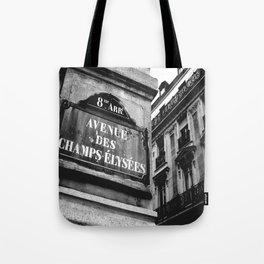 Champs Elysees Tote Bag