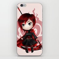 ruby iPhone & iPod Skins featuring Ruby by Louiology