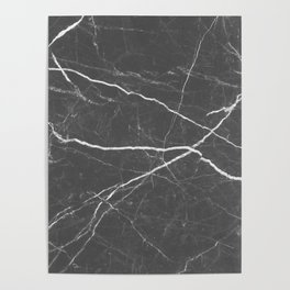 Gray marble abstract texture pattern Poster
