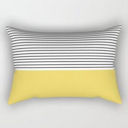 MINIMAL Green Stripes Rectangular Pillow