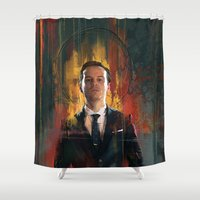 moriarty Shower Curtains featuring J.Moriarty by Wisesnail