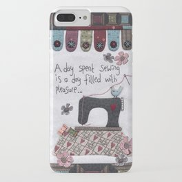 A Day Spent Sewing iPhone Case