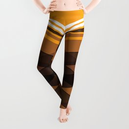 Brown Stripes Leggings