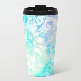 Floral Dream Pastel Hologram Travel Mug