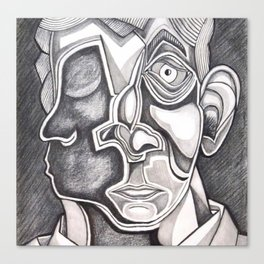 Two-faced Faces Canvas Print