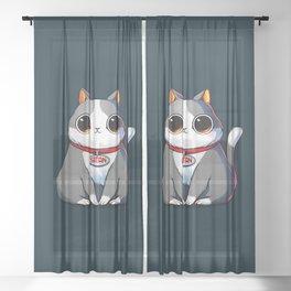 Satan Cat Sheer Curtain