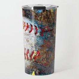 Baseball art print work 9 Travel Mug