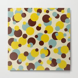 Retro Colored Dots - Classic Abstract Minimal Summer Style Metal Print