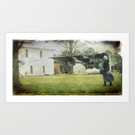 Amish Laundry Day Art Print