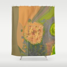 Wheresoever Balance Flower  ID:16165-142355-00811 Shower Curtain