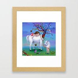 The Unicorn's New Horn Framed Art Print