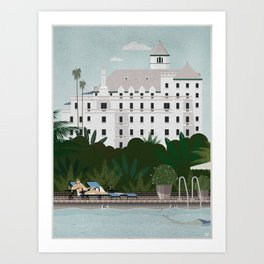 Chateau Marmont poster Art Print