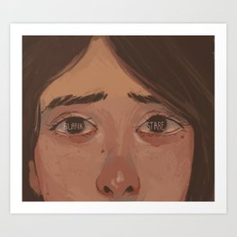 Blank Stare Art Print
