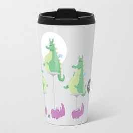 Dragons Ride Rhinos Travel Mug