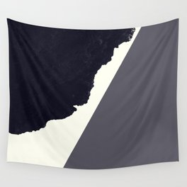 Contemporary Minimalistic Black and White Art Wall Tapestry