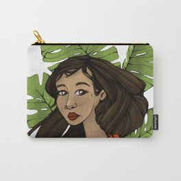 Girl with a monstera Carry-All Pouch