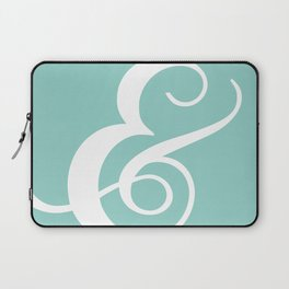 The Lovely Ampersand - Cyan Laptop Sleeve