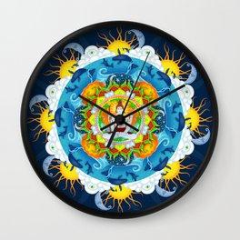 Shiva's Stillness Wall Clock
