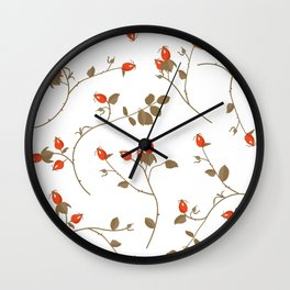 Rosehips Wall Clock