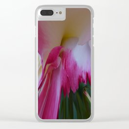 Pink Rose Abstract Clear iPhone Case