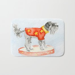 Starry Scruffy Schnauzer Bath Mat