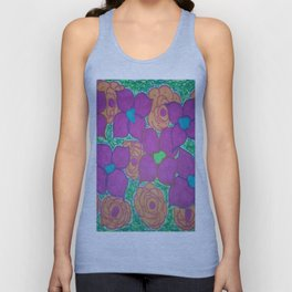 Bold Summer Flowers Unisex Tank Top