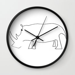 Line Rhino Wall Clock