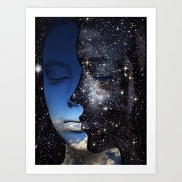 One thousand days and one night Art Print
