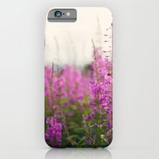 purple wildflowers iPhone 6s Slim Case