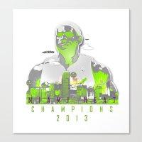 lebron Canvas Prints featuring NBA CHAMPS MIAMI HEAT (LEBRON) by EAZYYOKEART