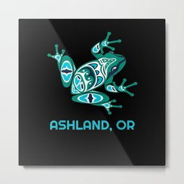 Ashland Oregon Frog PNW Indian Art Native American Metal Print