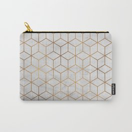 Marbled Copper Cubes Carry-All Pouch