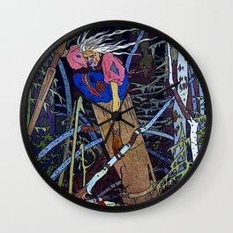 """""""Baba Yaga"""" the Witch by Ivan Bilibin Wall Clock"""