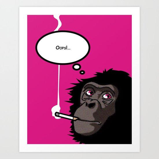 Pop Icon - Bonobo 2 Art Print