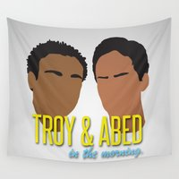 community Wall Tapestries featuring Troy & Abed In The Morning - Community by Tino-George