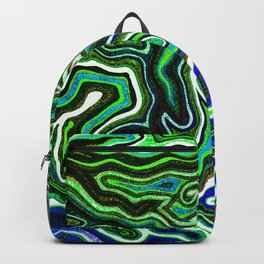 Abstract #1 - II - Blue Greens Backpack
