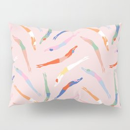 Art Deco Divers in Champagne Pillow Sham