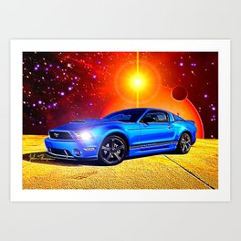 2012 Mustang GT Art Print