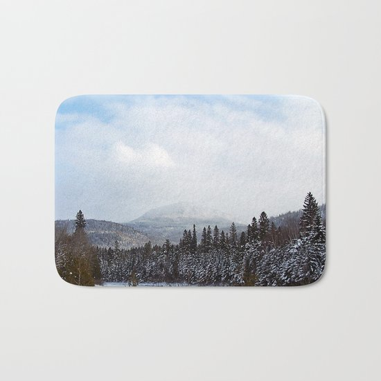 Winter in the Mountains Bath Mat