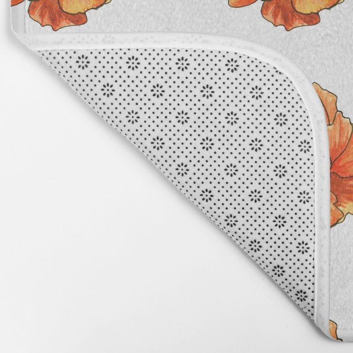 Siberian flower pattern Bath Mat