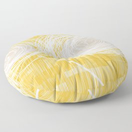 Yellow Doodle Floral by Friztin Floor Pillow