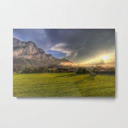 Saint Lorenz Austria Sunset Metal Print