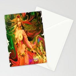 Nude warrior goddess ladykashmir  Stationery Cards