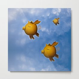 Pig can fly Metal Print