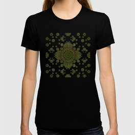 """Autumn mandala"" (Green-Grey Pattern) T-shirt"