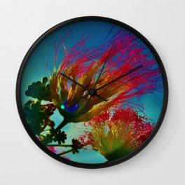 Abstract Mimosas Wall Clock