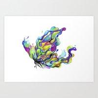 The Painterfly Art Print